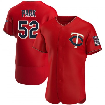 Men's Byung-Ho Park Minnesota Twins Authentic Red Alternate Jersey