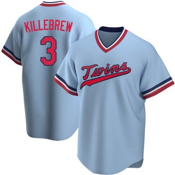 Men's Harmon Killebrew Minnesota Twins Replica Light Blue Road Cooperstown Collection Jersey