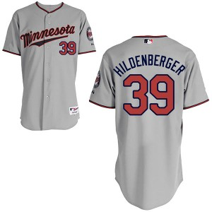 Youth Majestic Trevor Hildenberger Minnesota Twins Authentic Gray Cool Base Road Jersey