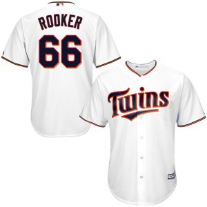 Men's Majestic Brent Rooker Minnesota Twins Authentic White Cool Base Home Jersey