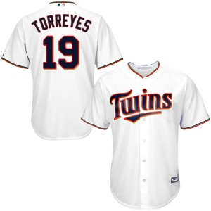 Youth Majestic Ronald Torreyes Minnesota Twins Authentic White Cool Base Home Jersey