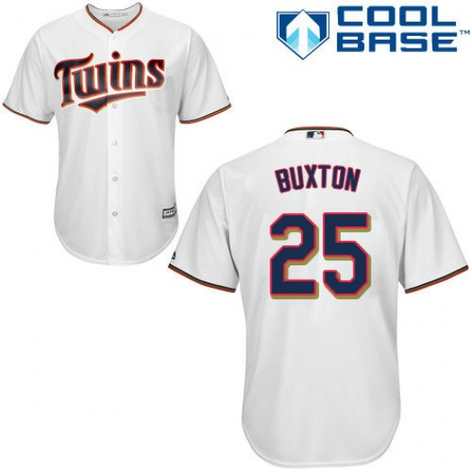 Women's Majestic Byron Buxton Minnesota Twins Authentic White Home Cool Base Jersey